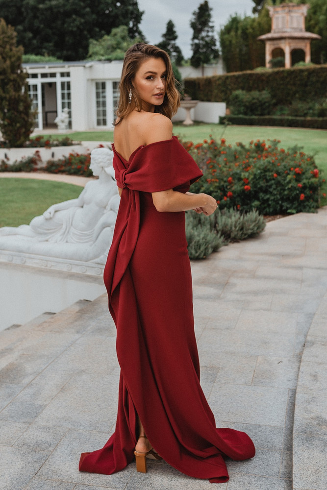 Chicago PO921 Evening Dress by Tania Olsen in Wine