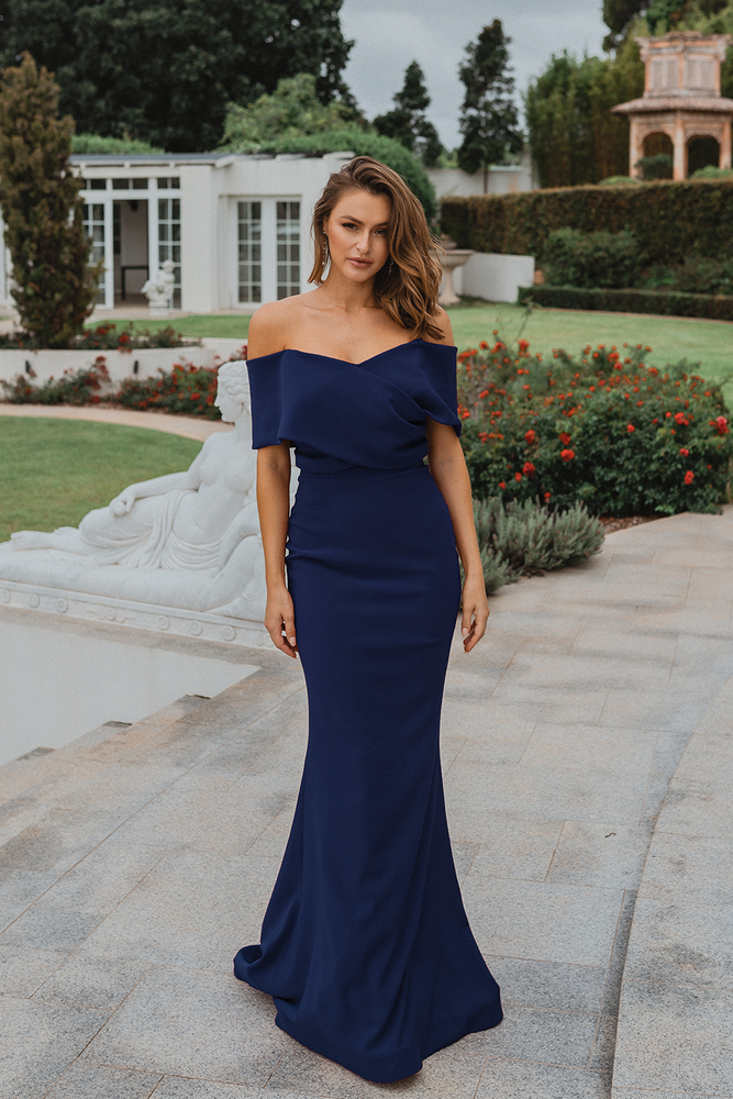 Chicago PO921 Evening Dress by Tania Olsen in Navy