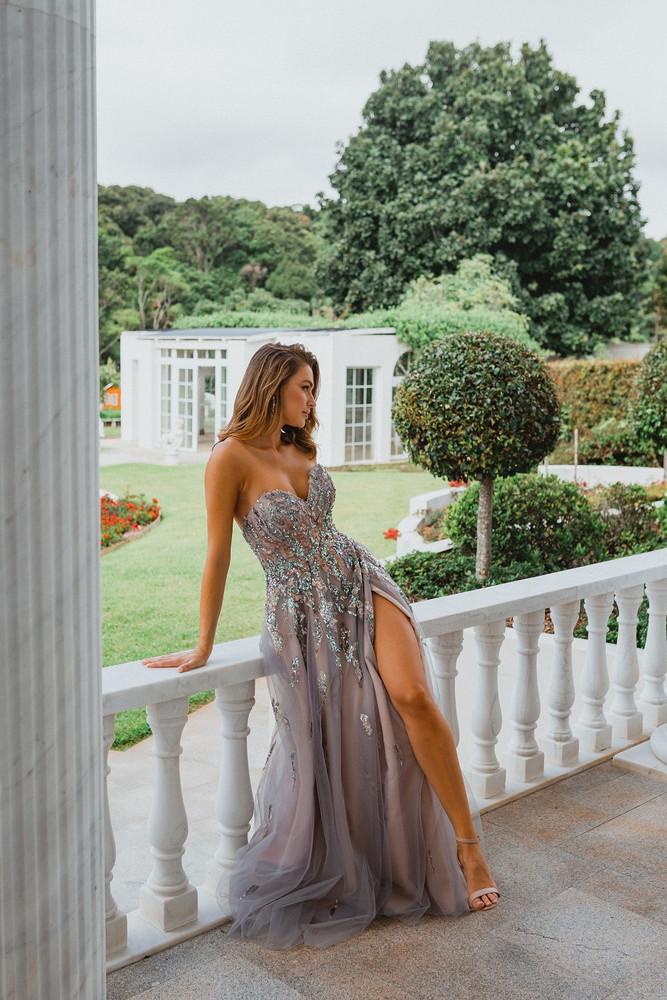 Delhi PO897 Evening Dress by Tania Olsen in Lilac