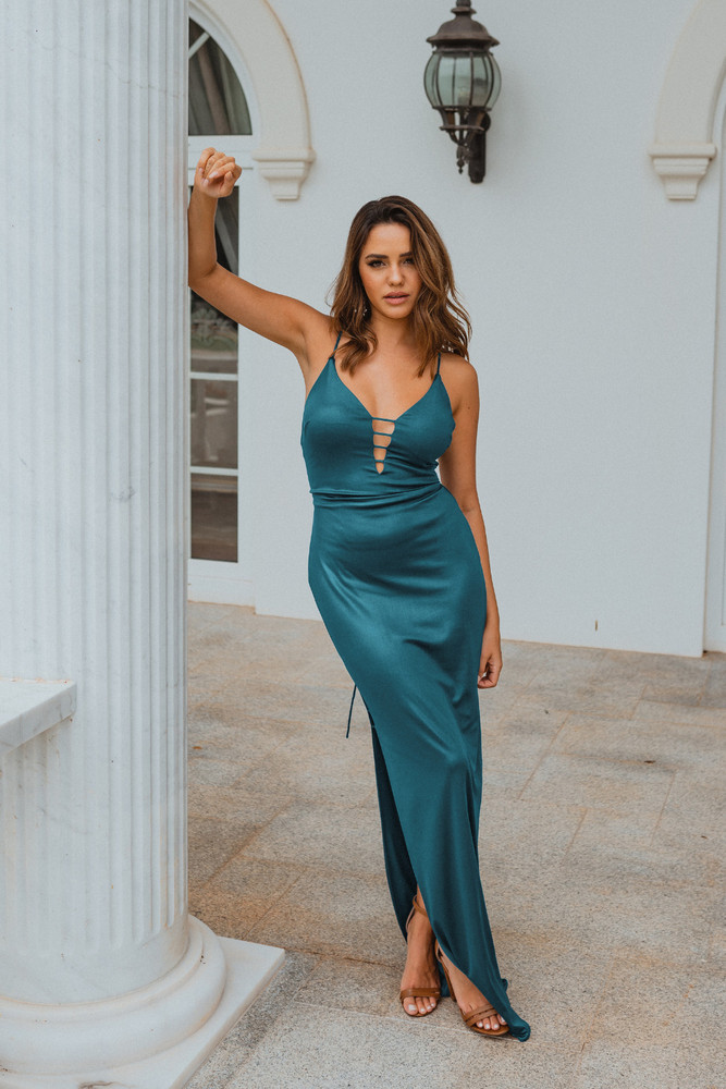 Dallas PO898 Evening Dress by Tania Olsen in Teal