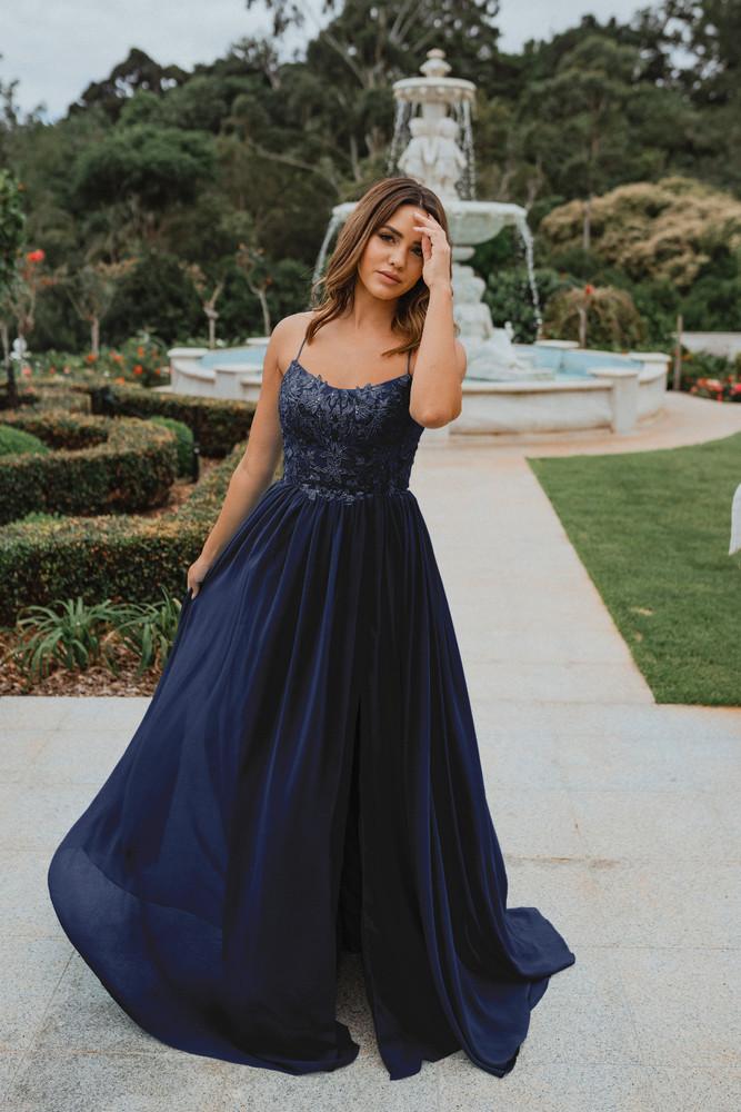 Cali PO908 Evening Dress by Tania Olsen in Plum