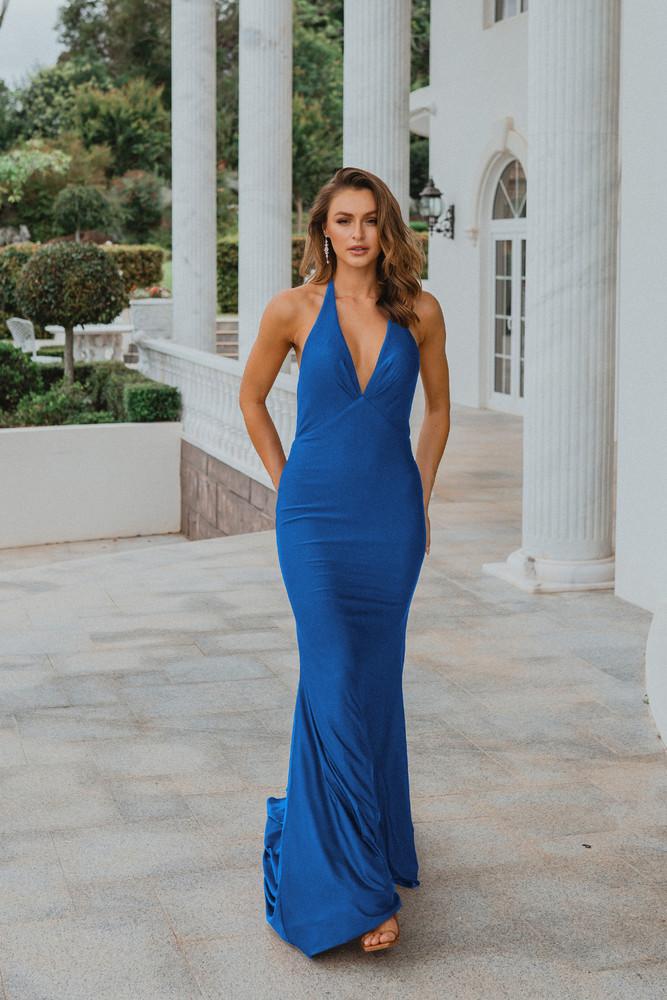 Genoa PO899 Evening Dress by Tania Olsen in Cobalt