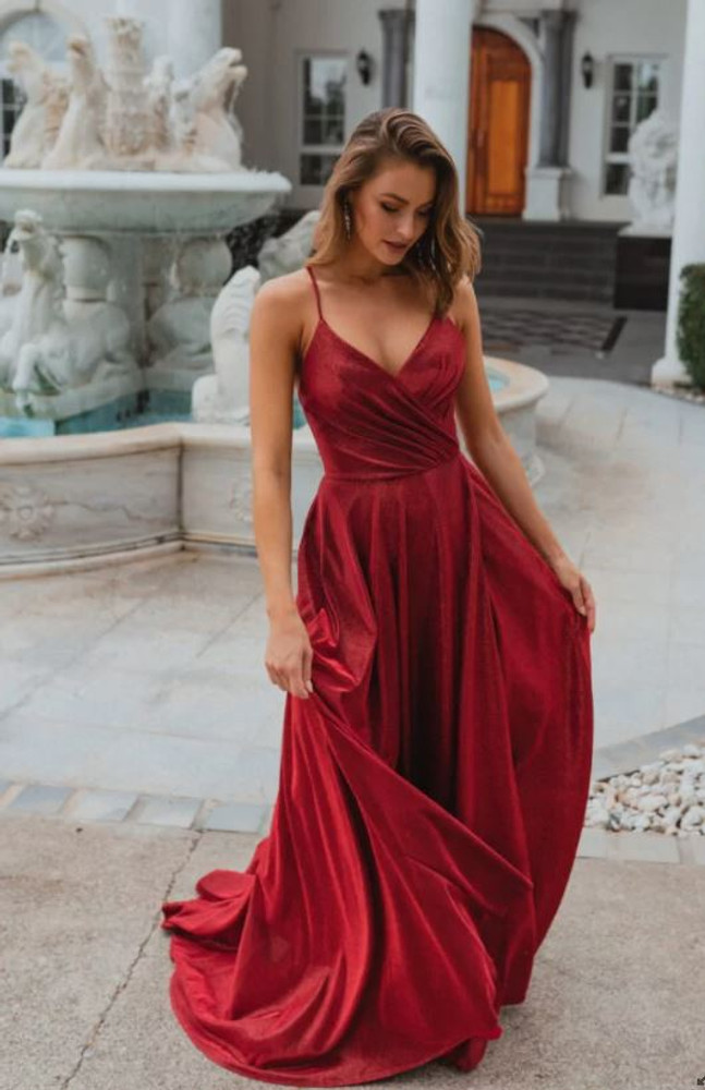 Monroe PO891 Evening Dress by Tania Olsen in Red