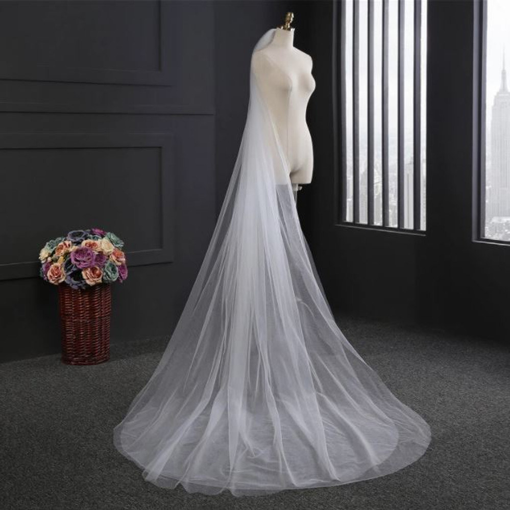 Double Layer Cathedral Wedding Veil
