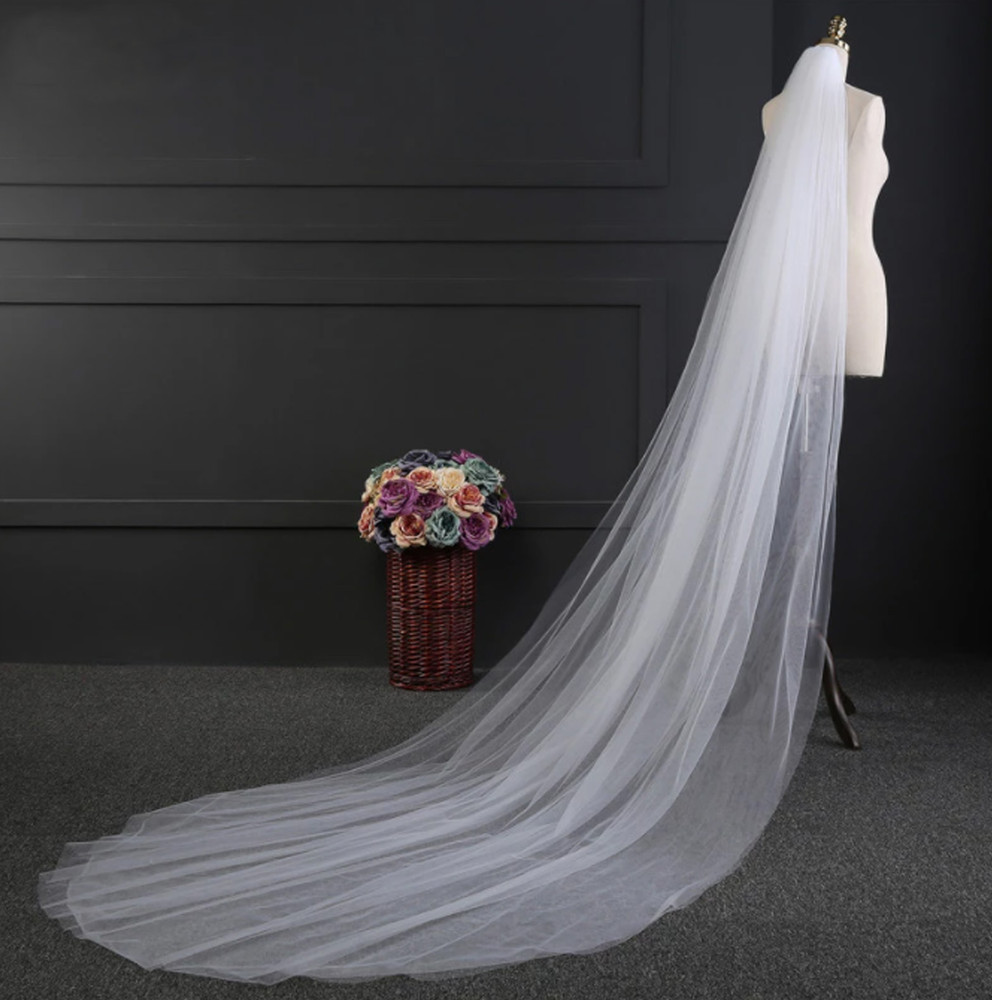 Double Layer Long Cathedral Veil