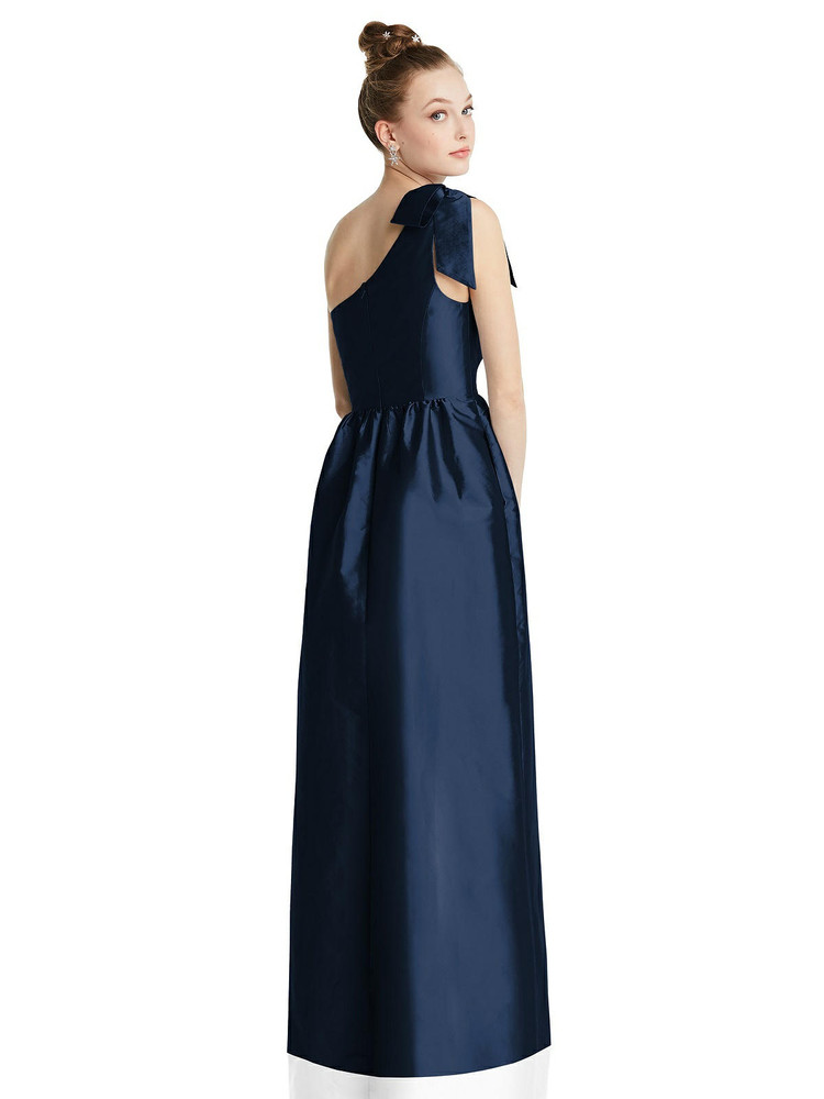 Bowed One-Shoulder Full Skirt Maxi Dress with Pockets TH080 By Thread Bridesmaids