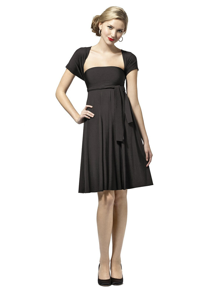 Convertible Twist Wrap Dress by Dessy : Short