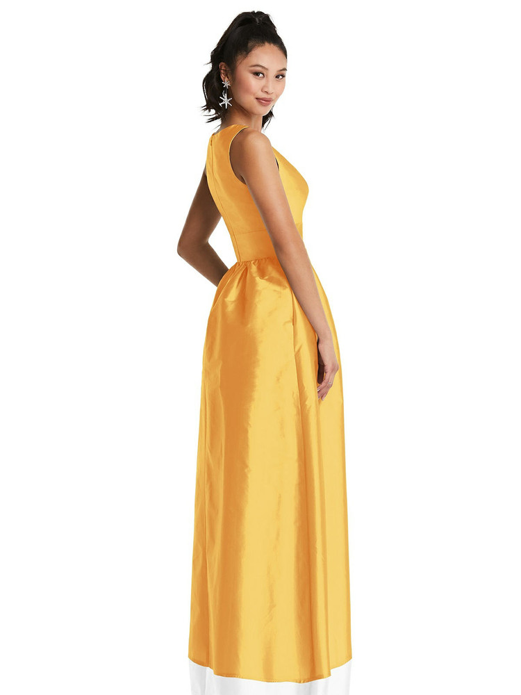 Plunging Neckline Maxi Dress with Pockets TH072 By Thread Bridesmaids in 32 colors