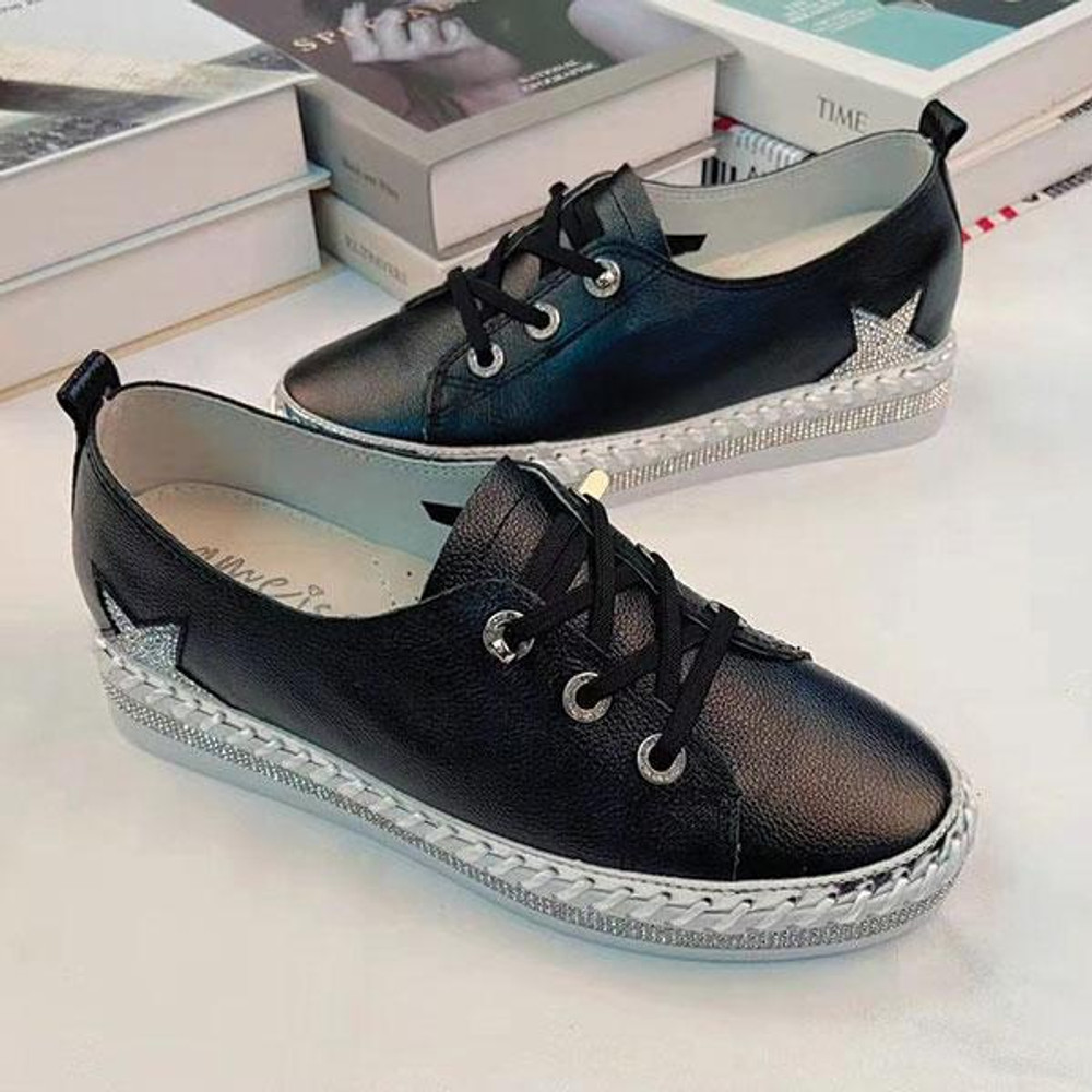 Gamma Leather Lace-up Sneakers by Ameise