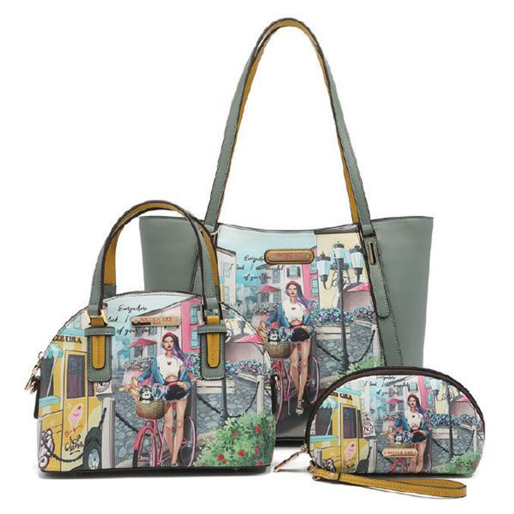 Nicole Lee Cozy Street in  Milan 3 Piece Bag Set by Ameise