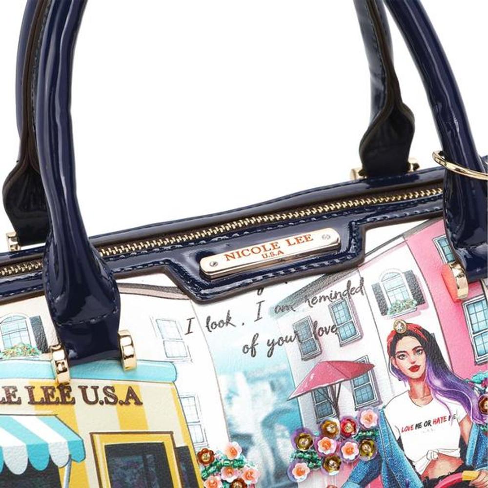 Nicole Lee Cozy Street In Milan Boston Bag by Ameise