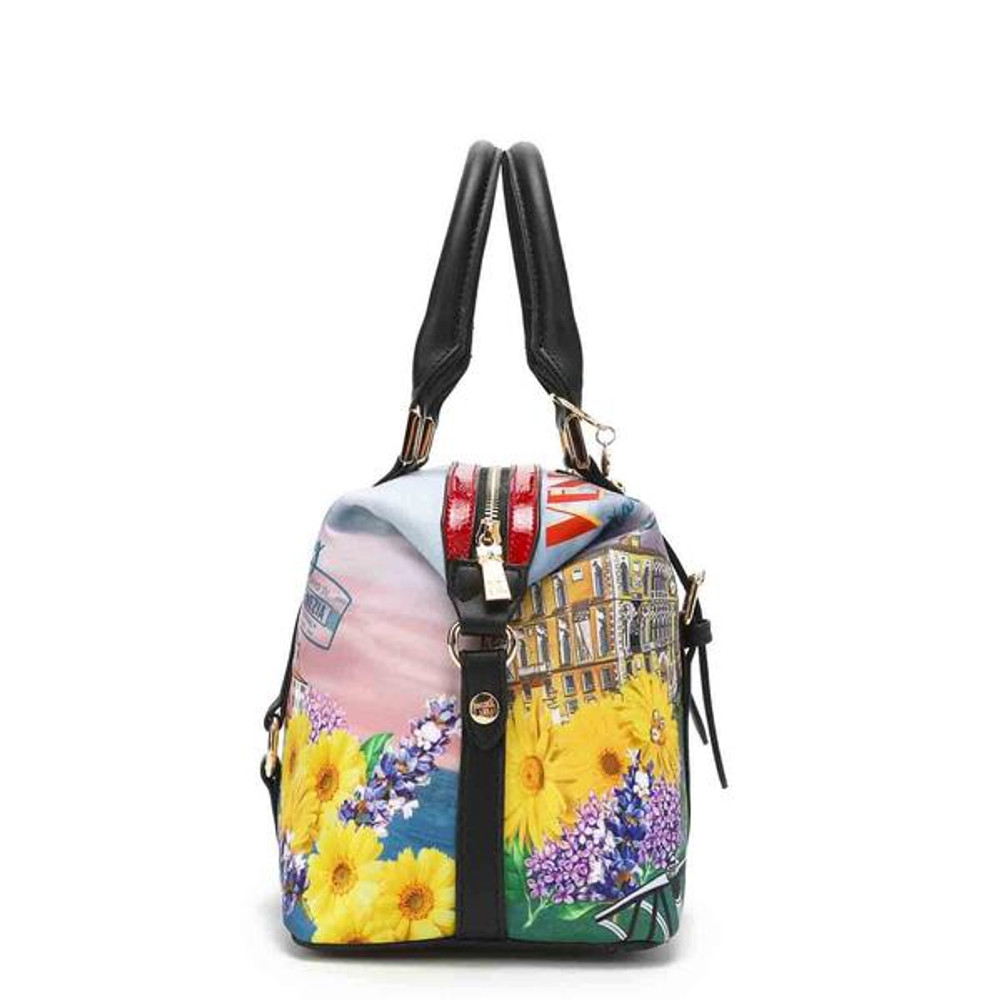 Nicole Lee Honeymoon In Venezia Nylon Boston Bag by Ameise