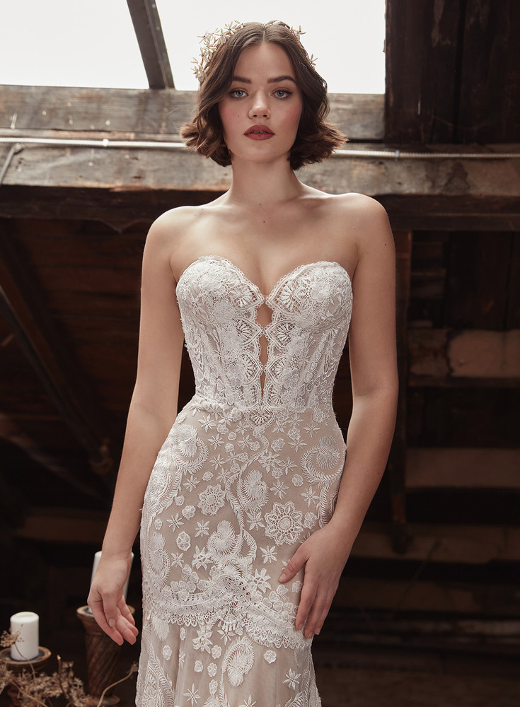 Fauna Lace Mermaid Wedding Dress LP2131  from La Perle by Calla Blanche Bridal  ( Pre-order now )
