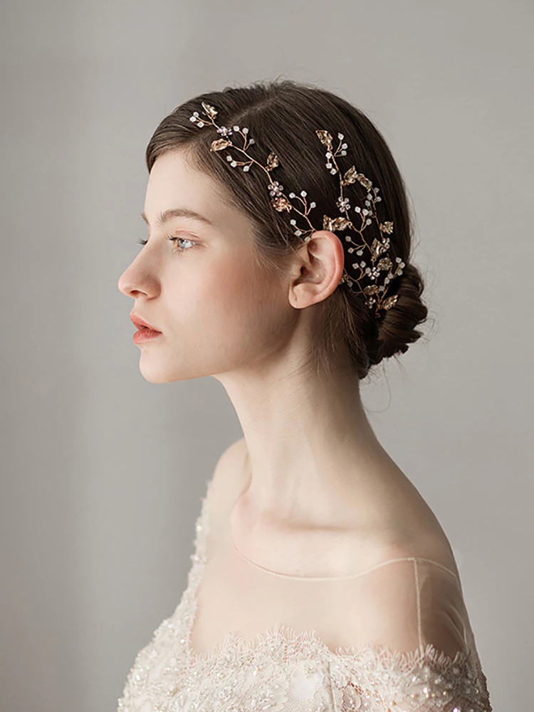 Vintage Gold Rhinestones Wedding Headband (MITIARA2)
