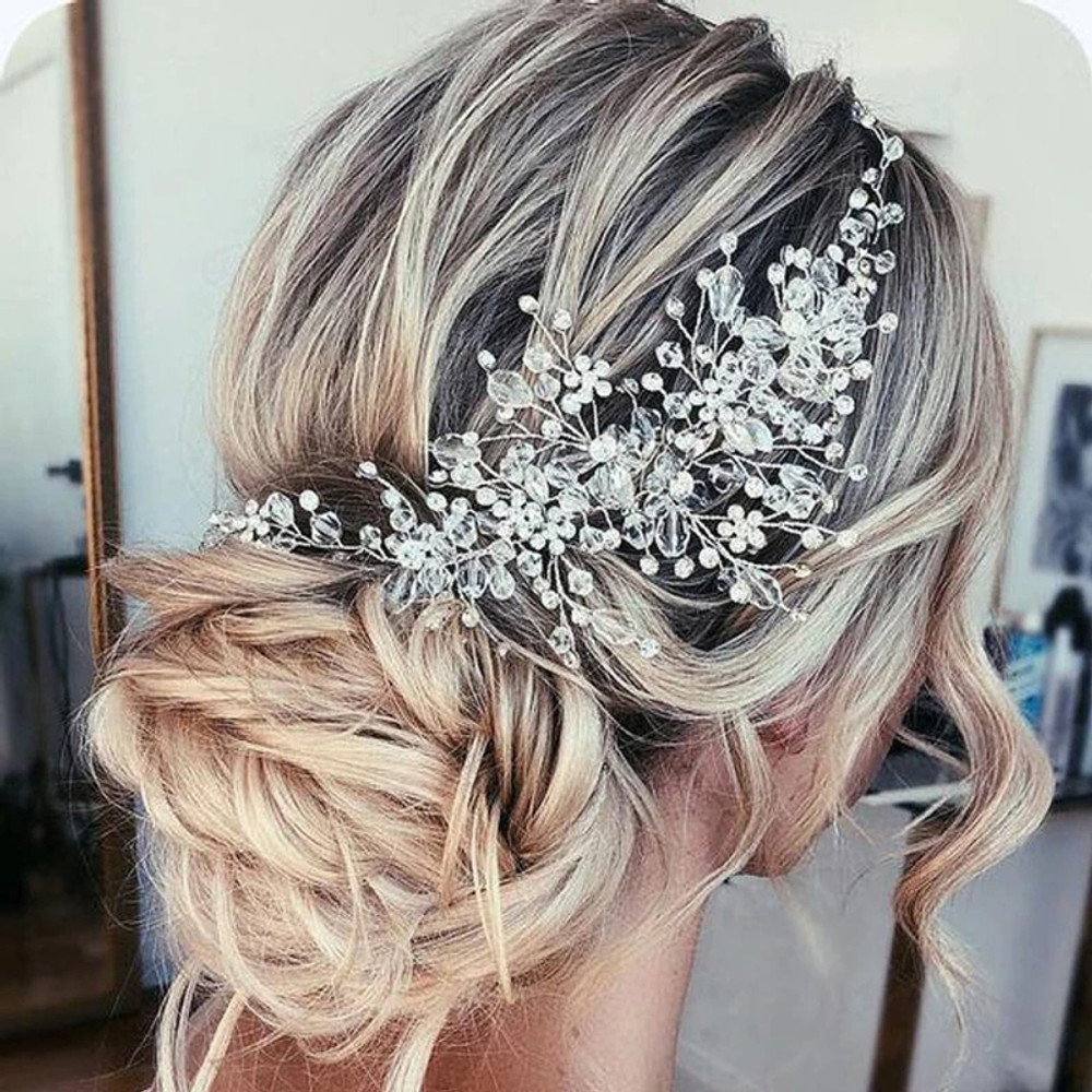 Retro Crystal Rhinestone Wedding Headband (MITIARA6)