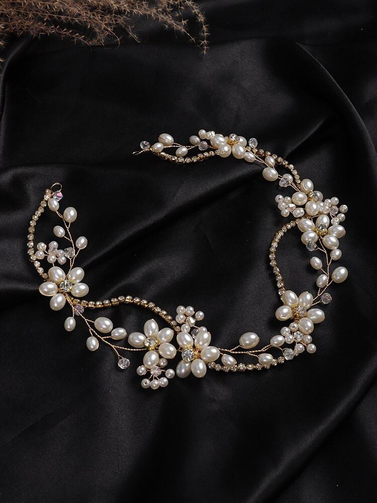 Pearl Bridal Wedding Head Chain (MITIARA10)