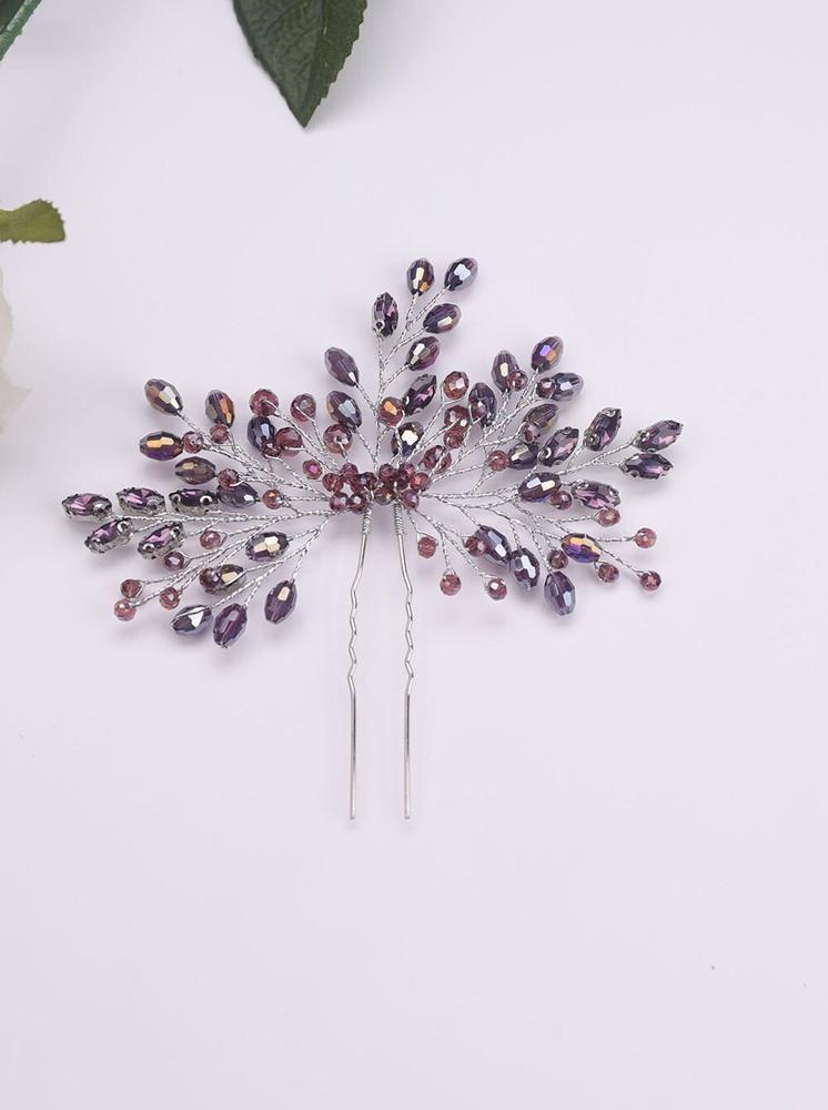 Classic Vintage Purple Crystal Hairpin (MITIARA33)