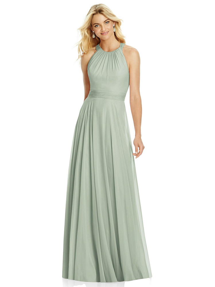 Cross Strap Open-Back Halter Maxi Dress By After Six 6760 in 64 colors in willow