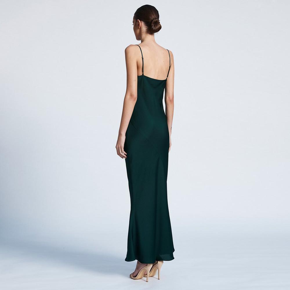 Shona Joy Bias Cowl Slip Dress - Emerald
