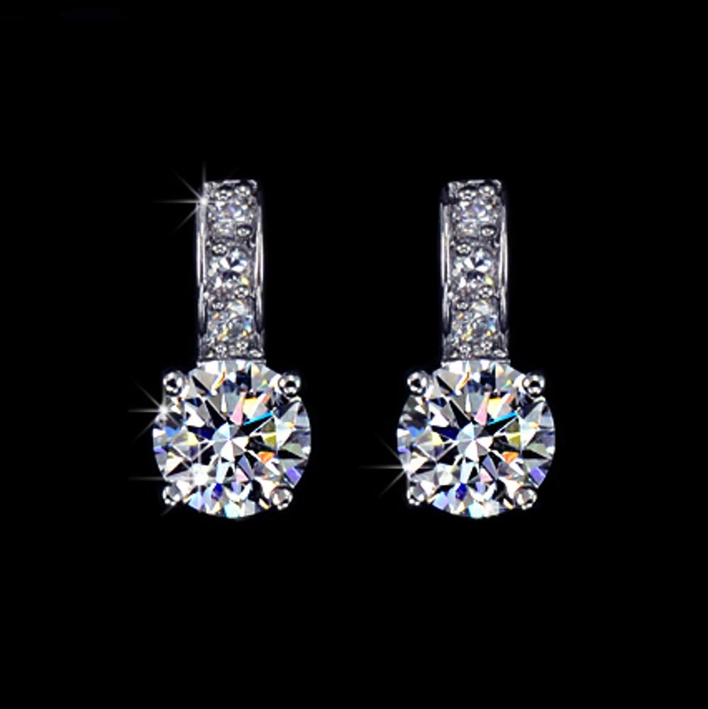 Small stud Cubic Zirconia earrings