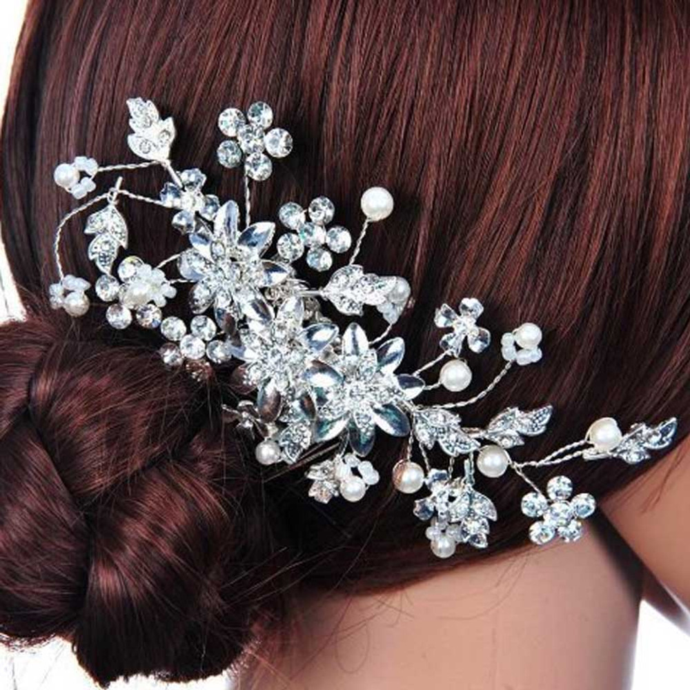 Bridal Floral Pearl Headpiece