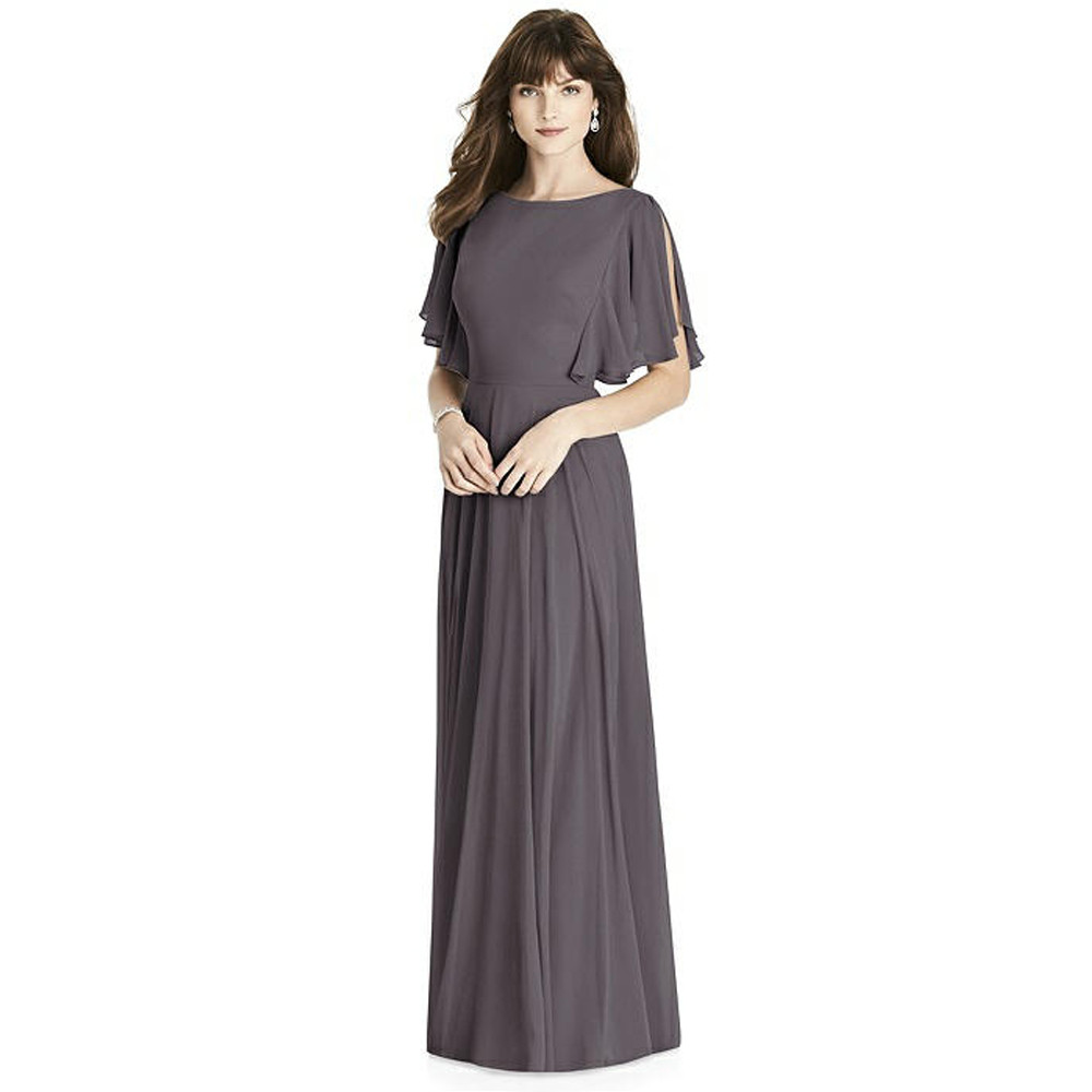 Split Sleeve Backless Maxi Dress - Lila by Thread Bridesmaid Style TH038 in 64 colors