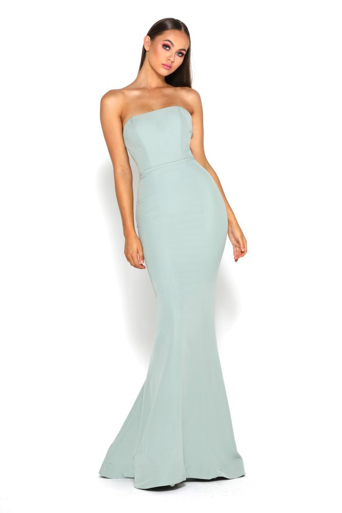 Lilo Gown Olive by Portia & Scarlett