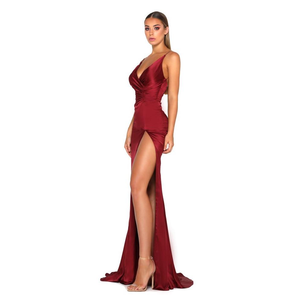 Hugo Gown Satin Red by Portia & Scarlett