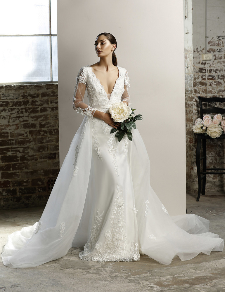 Madison Wedding Overlay Skirt W109 by Jadore Bridal