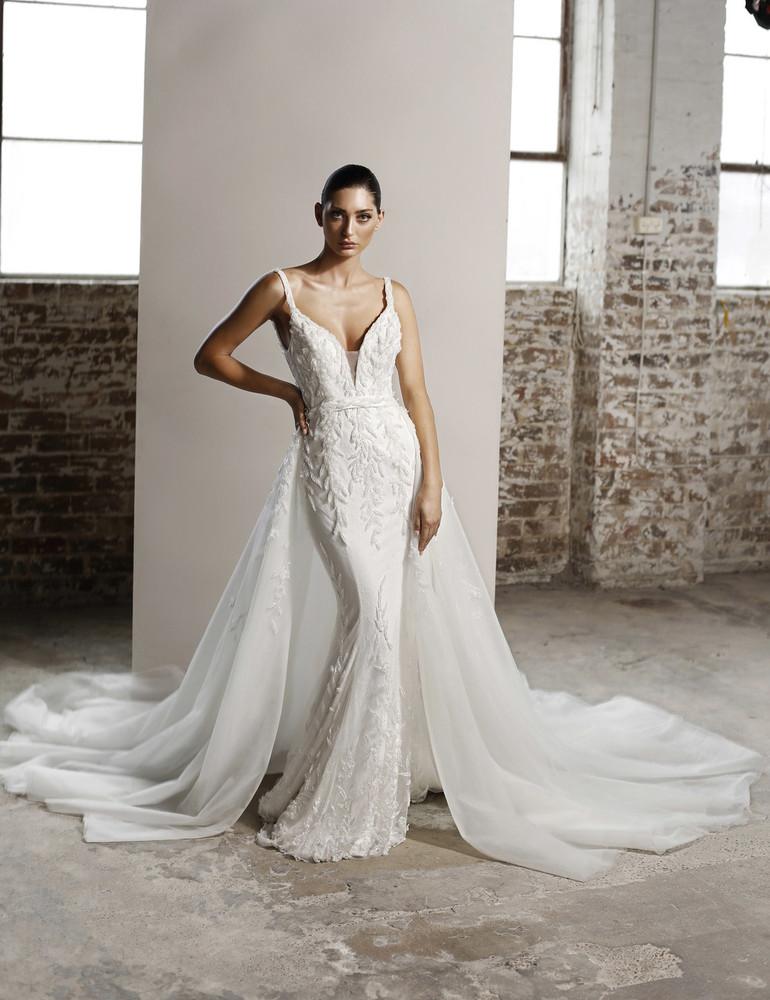 Aubrey Wedding Overlay Skirt W111 by Jadore Bridal