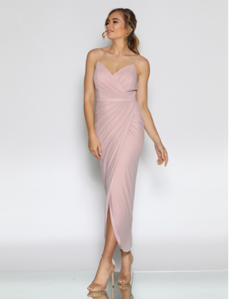 Cleo LD1095 Tea Length Bridesmaid Dresses Online Australia Sydney Brisbane
