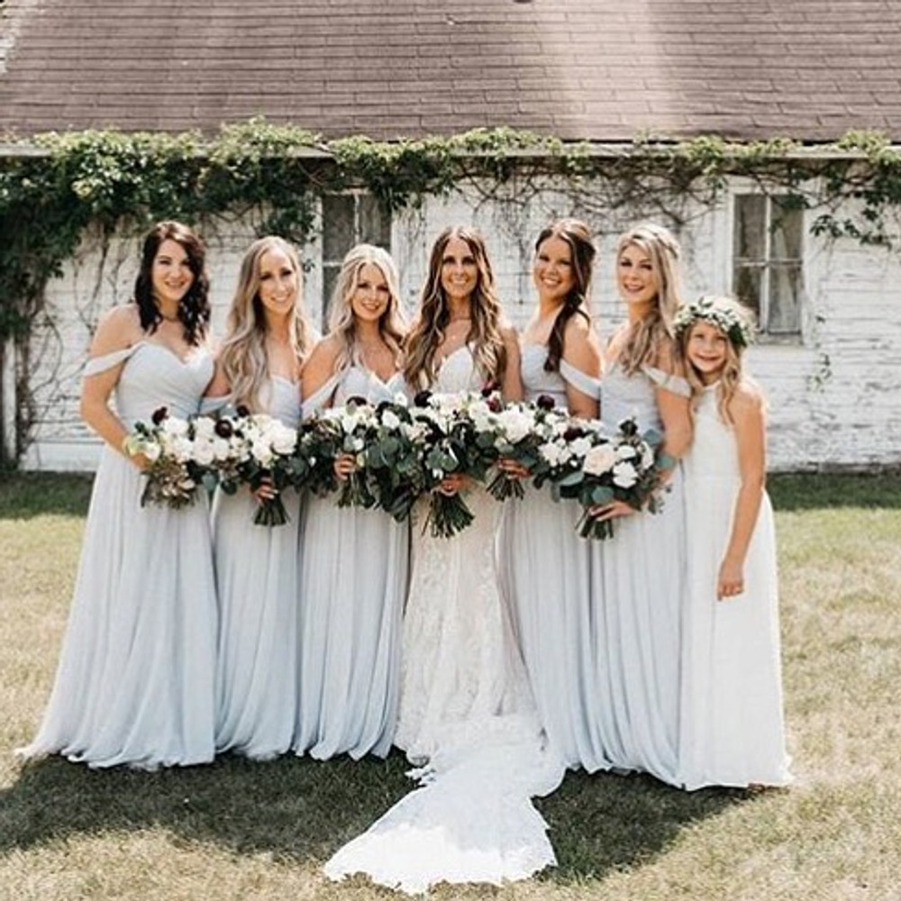 Dessy Bridesmaids 2970 in frost