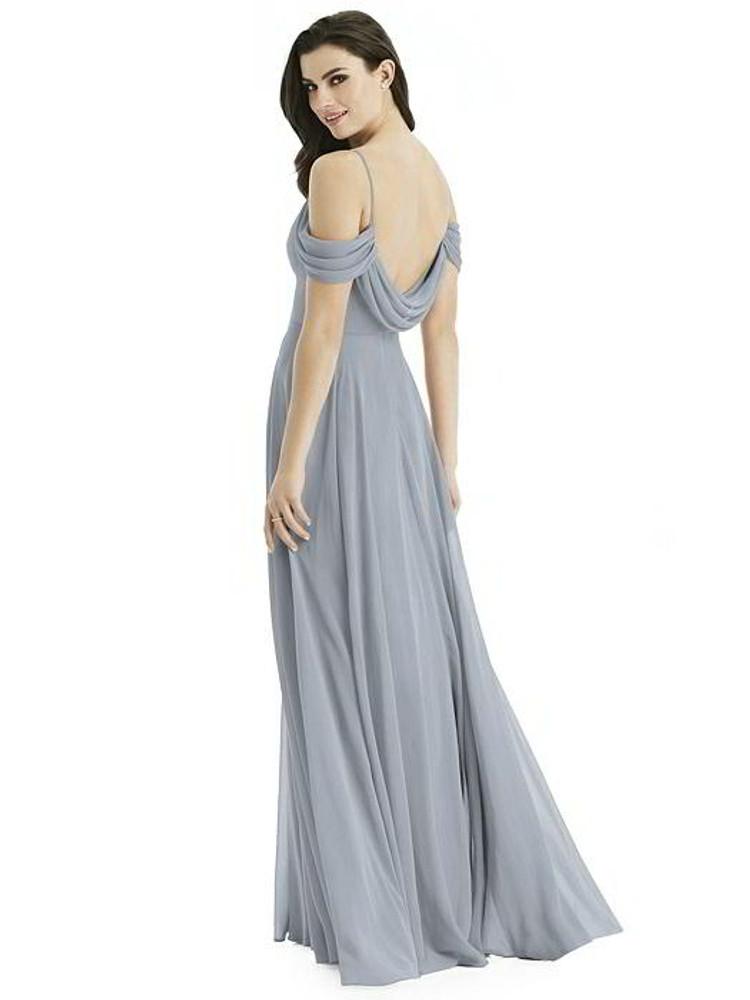 Off-the-Shoulder Open Cowl-Back Maxi Dress By Studio Design 4525