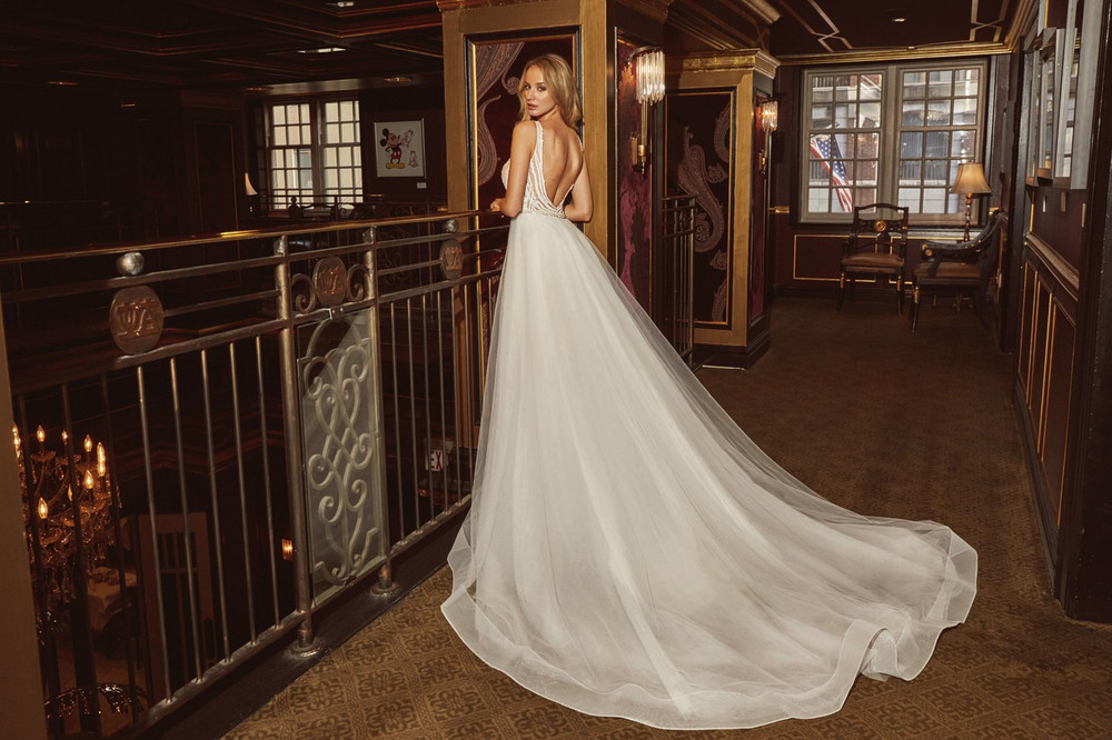 Kayla LA18235 by Calla Blanche with Overskirt