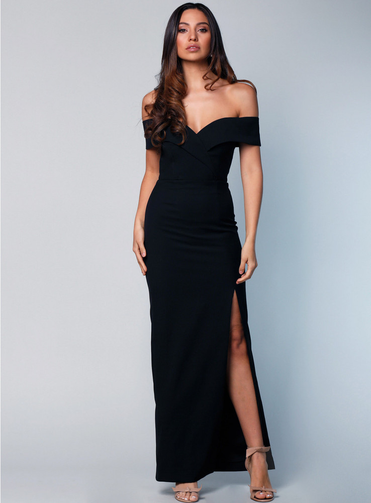 Gia Off the Shoulder Pencil Dress By Samantha Rose