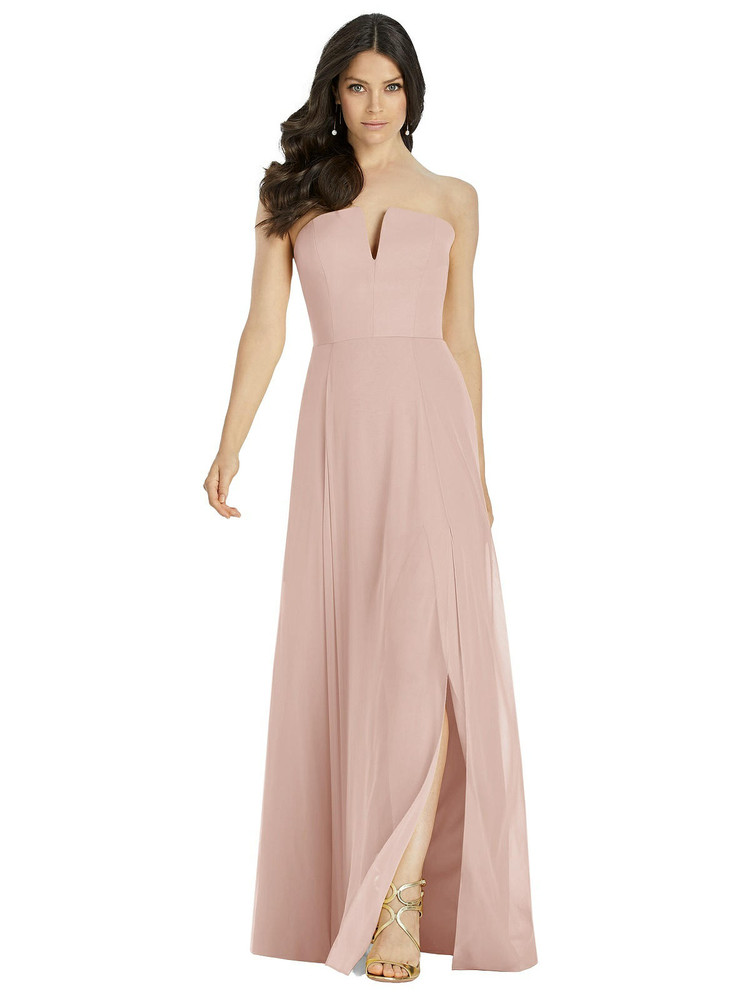 Dessy Bridesmaid Dress 3041 - toasted suger