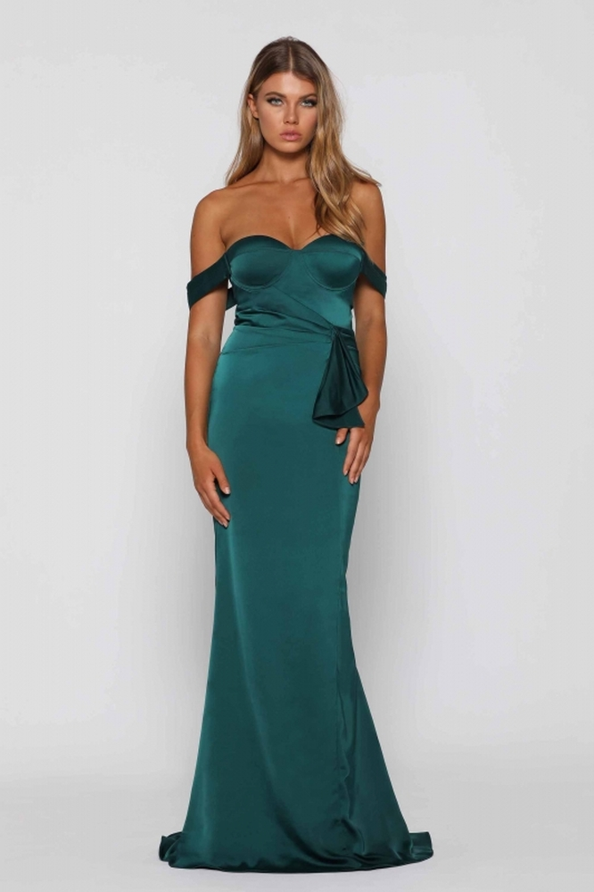 Maisy Emerald Green Dress By Elle Zeitoune