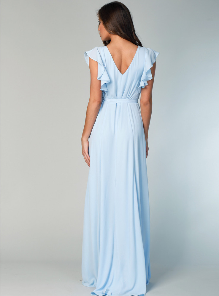 Flutter Sleeve Gown By Samantha Rose
