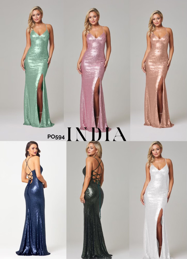 India Sequiin Dress by Tania Olsen Designs