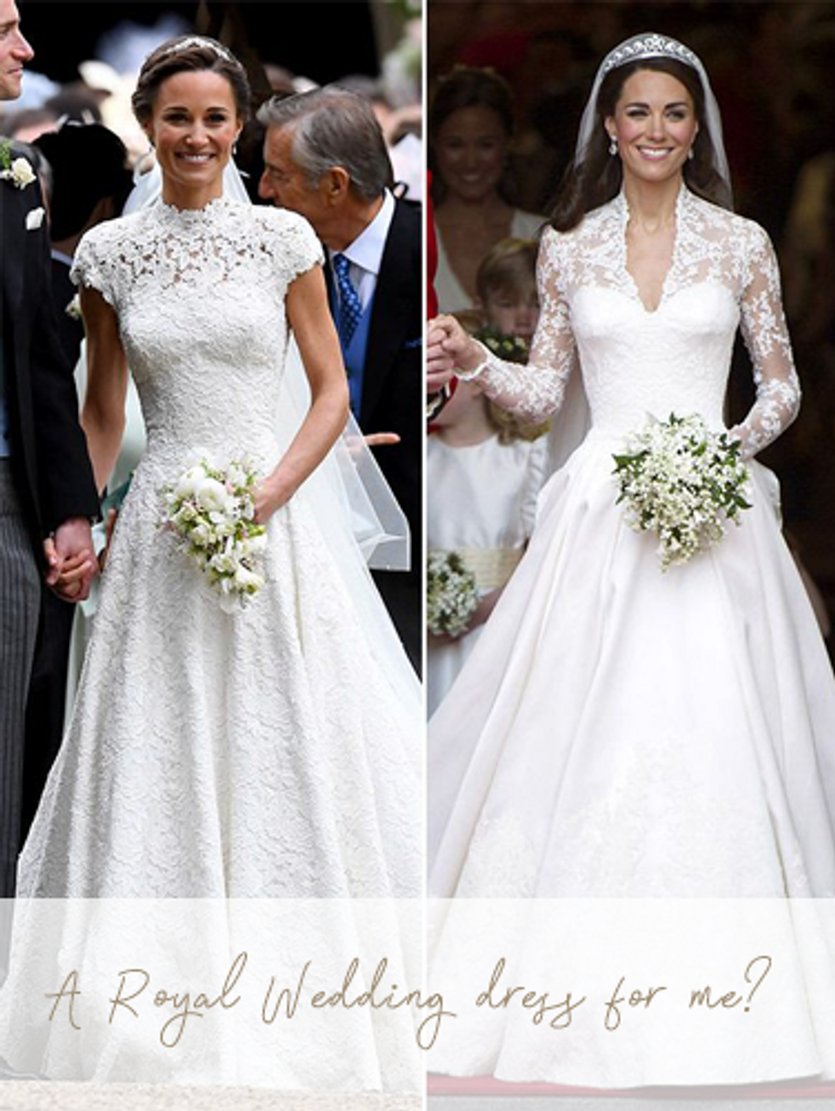 A Royal Wedding dress for me? Pippa and Kate Middleton show us how...