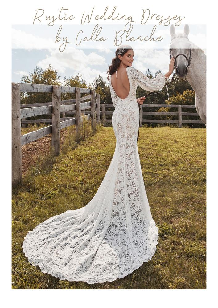 Rustic Wedding Dresses by Calla Blanche