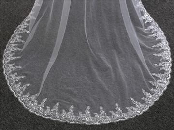 Gemma Sequined Lace Wedding Veil