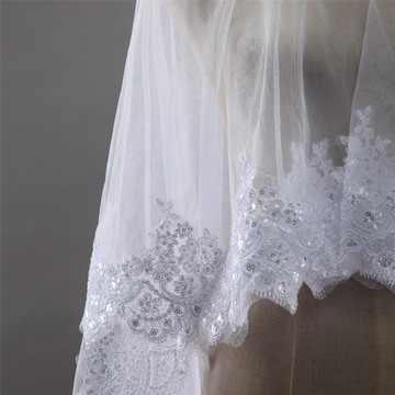 Kate Wedding Veil with Sequined Lace