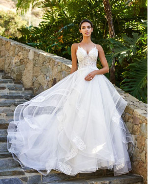 Kristen Wedding Gown J6581B by Moonlight Bridal  without bodice lining
