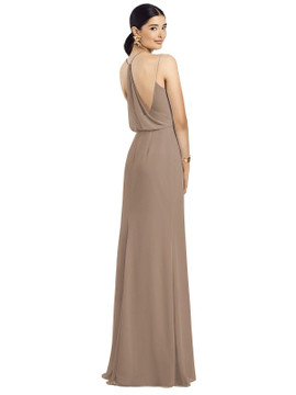 After Six Bridesmaids Draped Blouson Back Chiffon Maxi Dress 1527 available in 63 colors