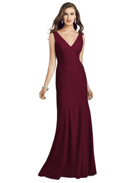 Sleeveless Seamed Bodice Trumpet Gown DG3060