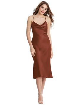 Piper - Cowl-Neck Convertible Midi Slip Dress available in 22 colors