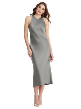 Lou - Tie Neck Cutout Midi Tank Dress