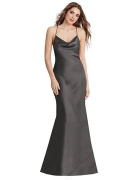 Reese - Cowl Neck Convertible Maxi Slip Dress in caviar