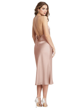 Reese - Cowl Neck Convertible Maxi Slip Dress in 22 colors